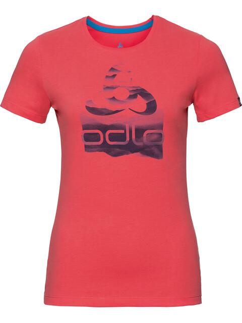 Odlo Kumano Logo Crew Neck SS Shirt Women dubarry-placed print SS18